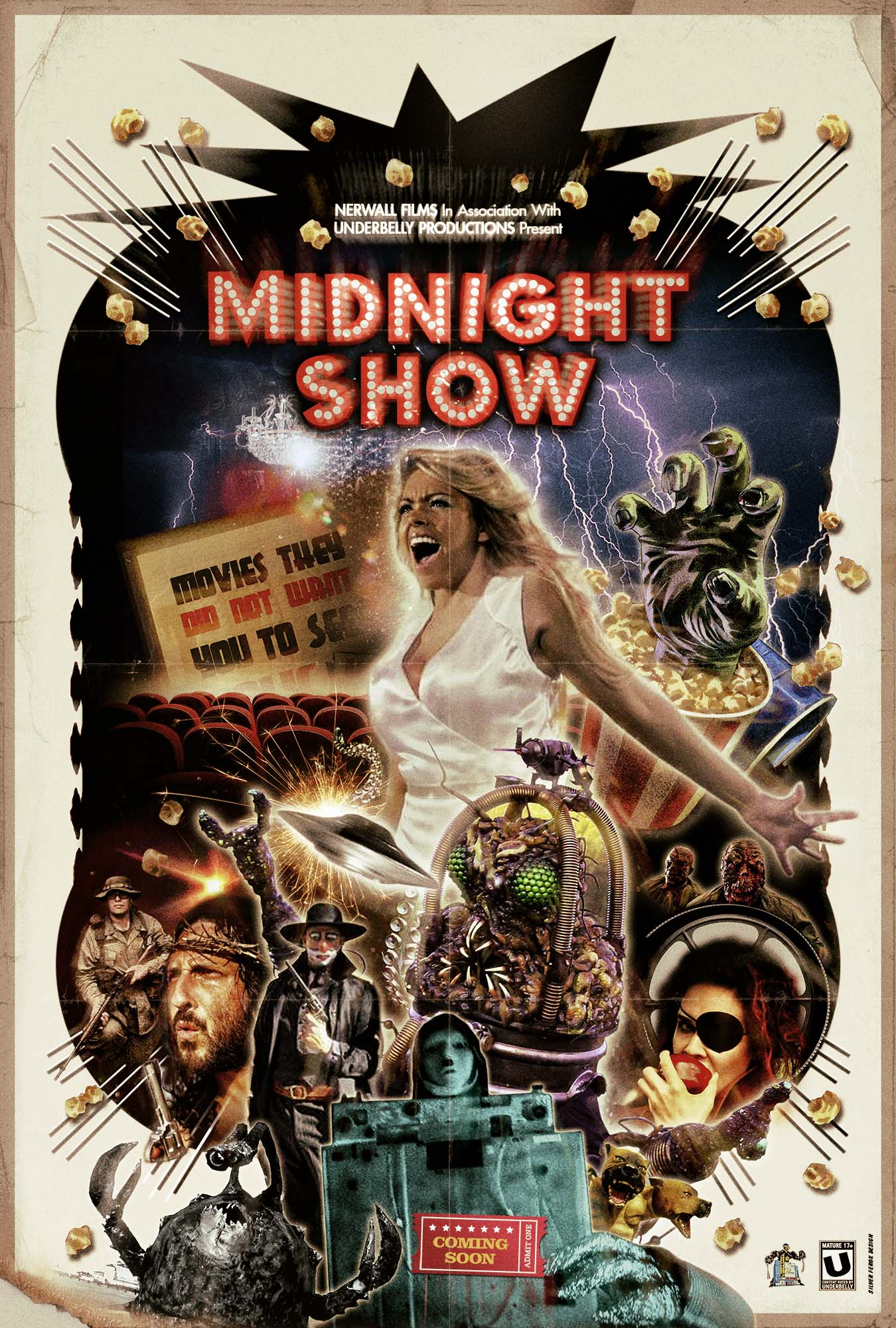 Pair Of Retro Posters For Indie Trash Cinema Inspired Midnight Show