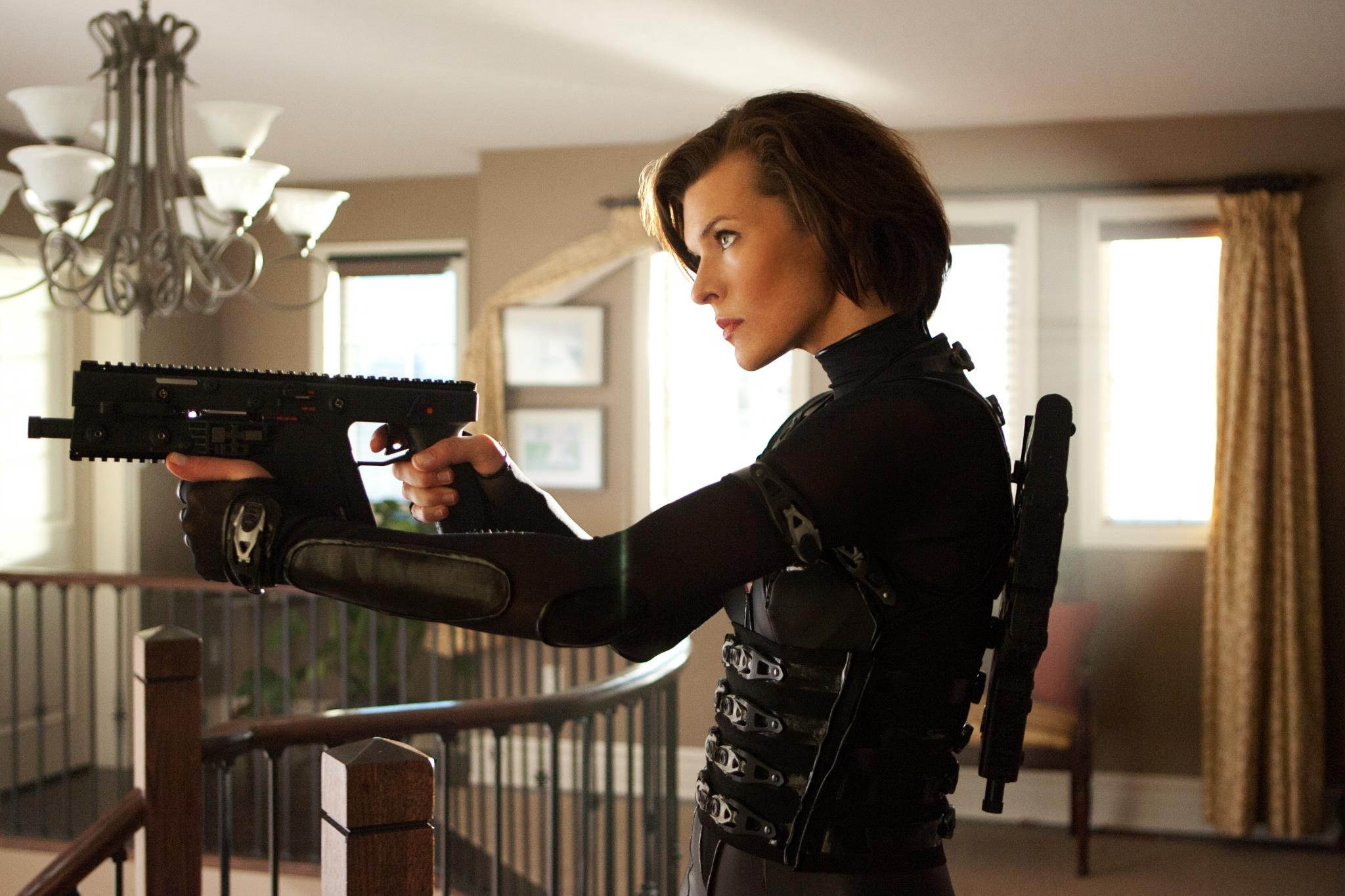 Another Shot Of Alice Taking Aim In Resident Evil Retribution