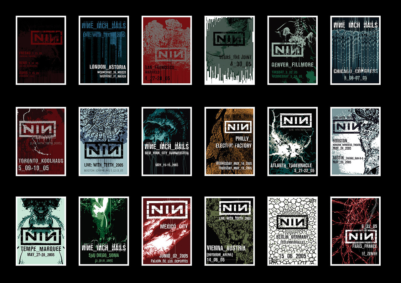 Nine Inch Nails Posts Amazing Gallery Of Posters From \'05/\'06 Tours ...