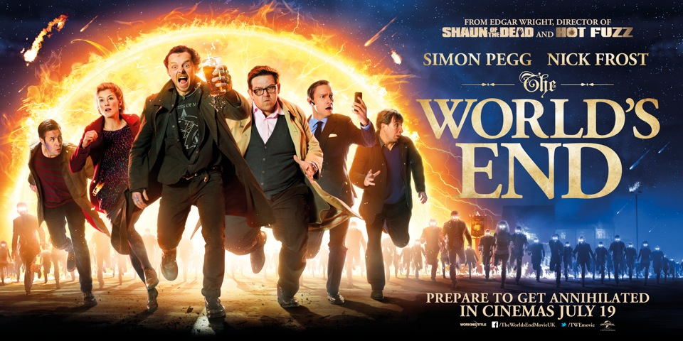 Run Towards A New 'The World's End' Quad Poster - Bloody Disgusting