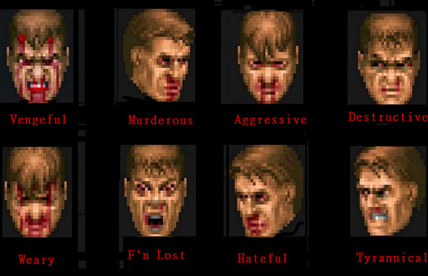 Express Yourself With Doom Guy Faces Bloody Disgusting