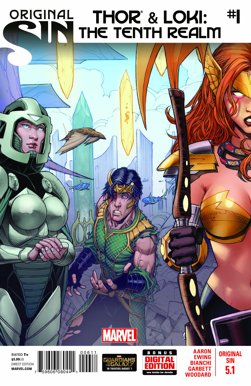 Original Sin 2014 Thor Loki Tenth Realm #5.1-5.5 Complete Series Set 1-5