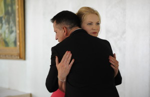 In STEPHEN KING'S A GOOD MARRIAGE, Darcy (Joan Allen) discovers her husband (Anthony LaPaglia) has a secret, courtesy Screen Media Films