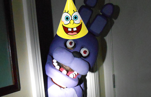 its a five nights at freddys themed birthday party