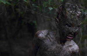 Gill Eeckelaert is Kai the feral boy, helper of the Poacher in Welp/CUB (Jonas Govaerts/Potemkino 2014).