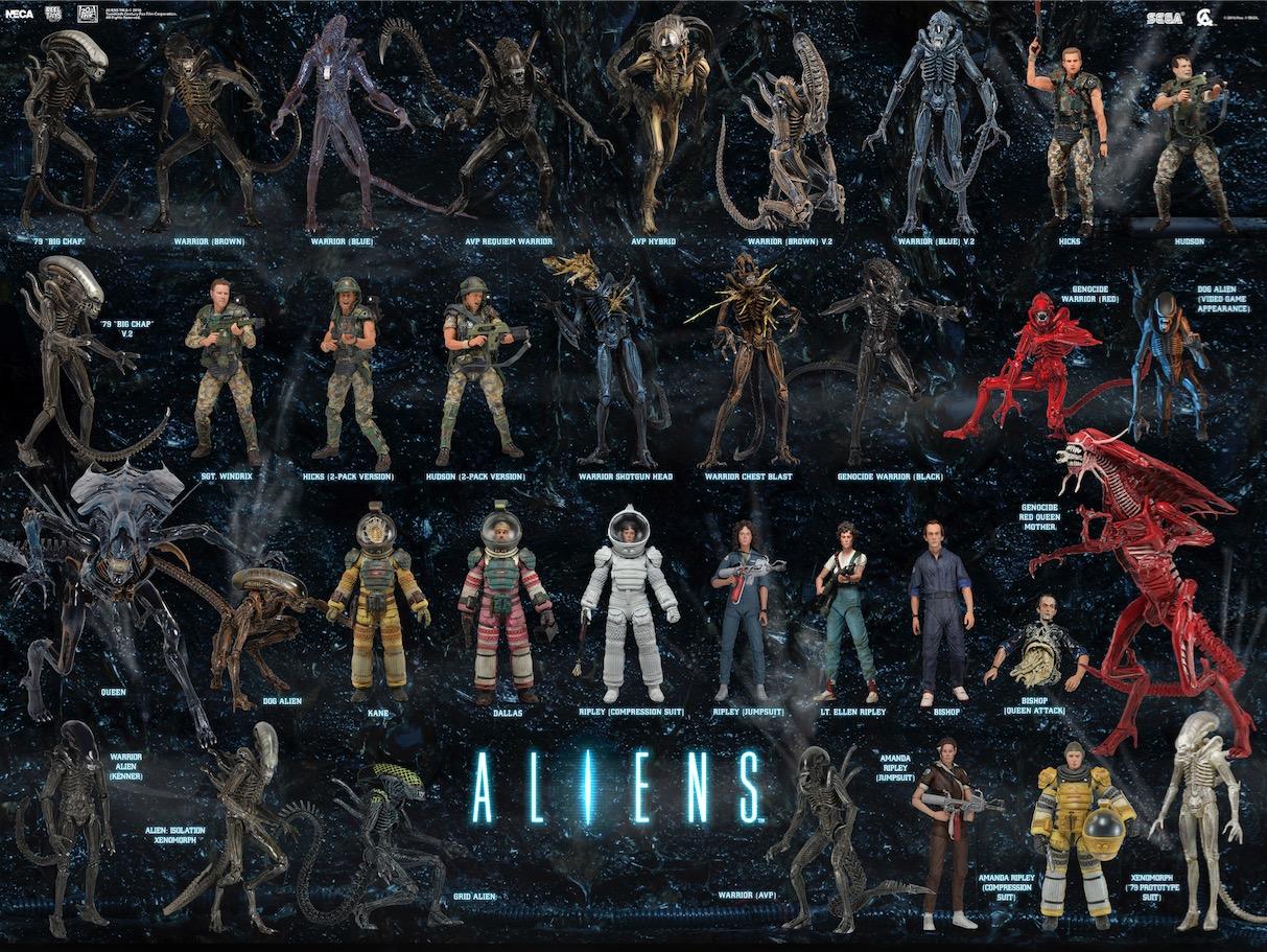 NECA Creates Ultimate 'Aliens' Action Figure Checklist! - Bloody