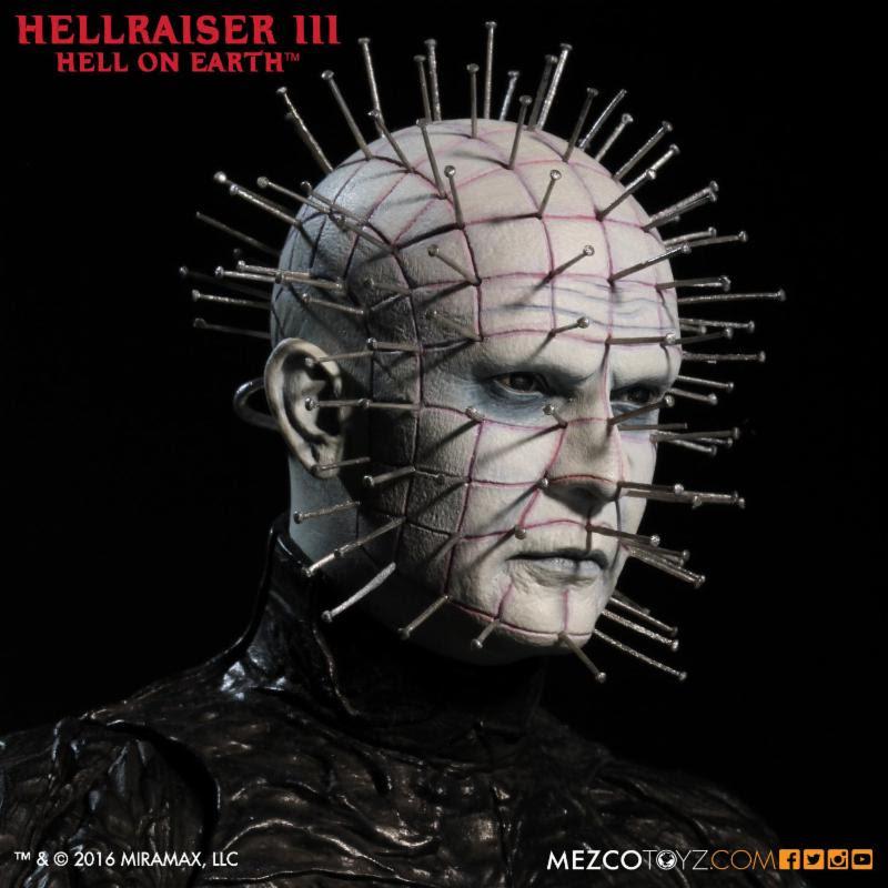 hellraiser mezco opens the box to incredible pinhead figure