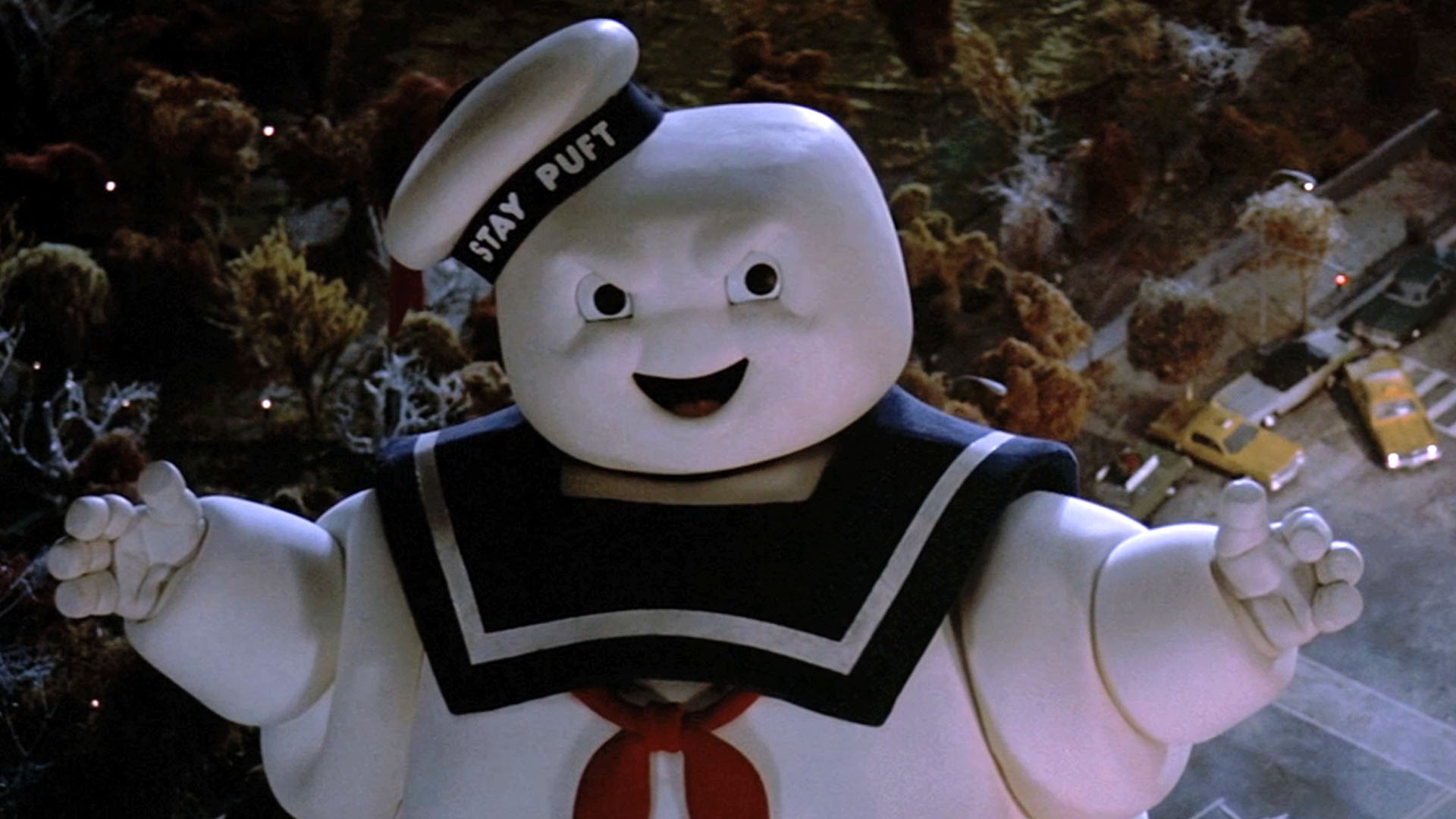 Image result for ghostbusters 1984 stay puft marshmallow man