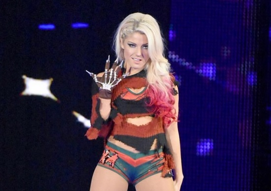 Wwe Superstar Alexa Bliss Dressed As Freddy Krueger On Tv Last Night