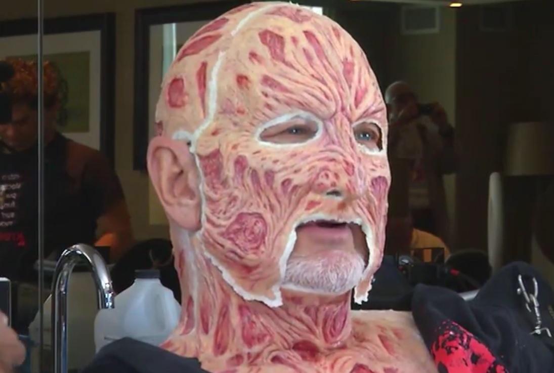 makeup Freddy krueger face
