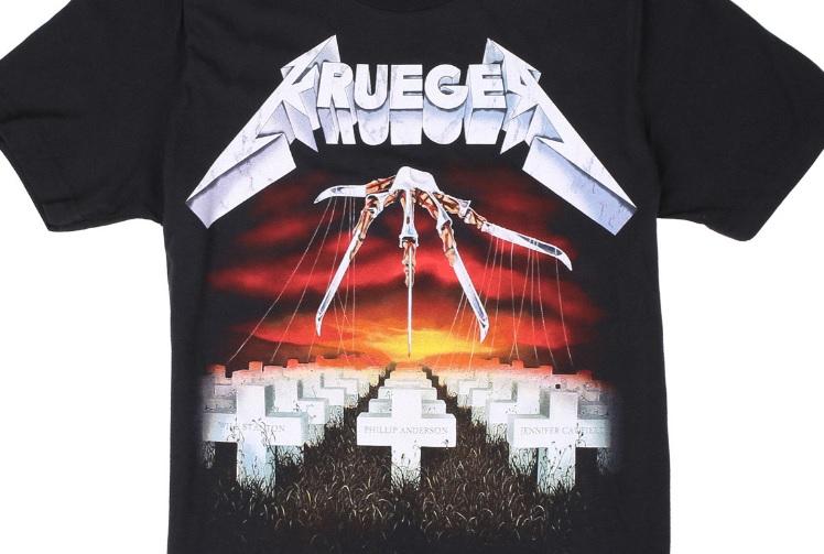 c438563d1 Electric Zombie Unleashes Freddy Krueger x Metallica Mashup T-Shirt Line