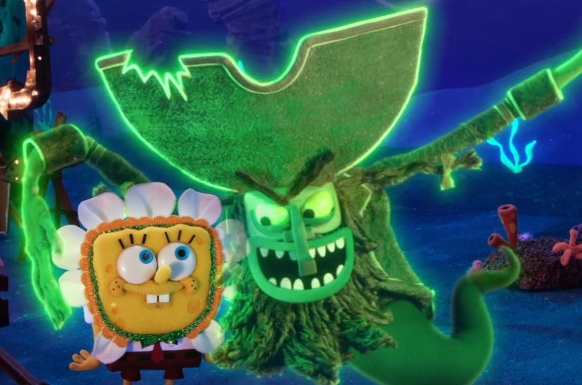 first clip from this year's spongebob halloween special! - bloody