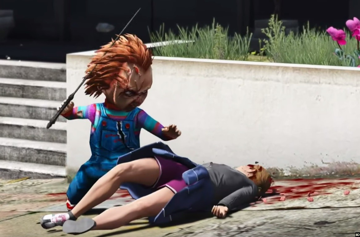 Video] Someone Added Chucky into 'GTA V' and It's Pretty