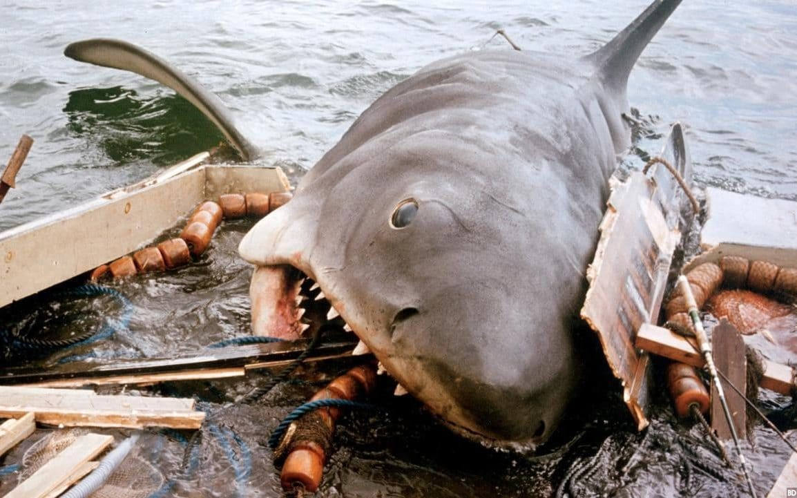 Amblineseque 'Jaws' Art Details the Great White Killing Machine