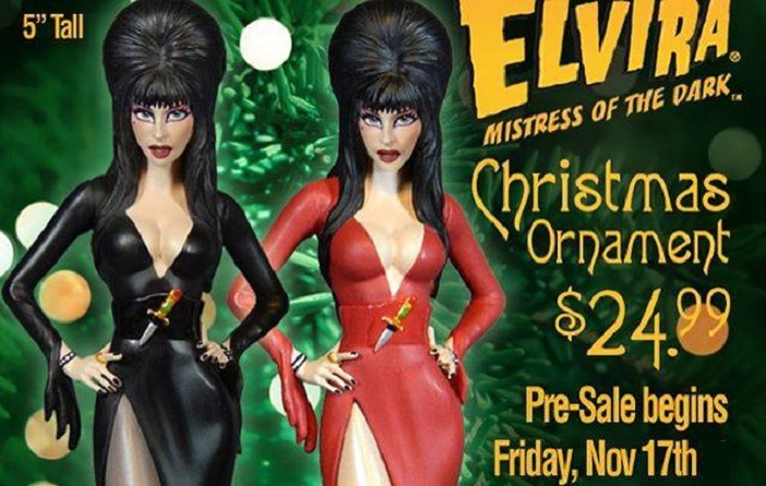 Official Elvira Christmas Ornaments Are Now Available