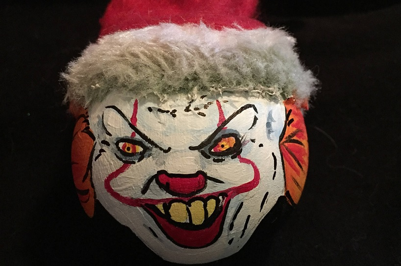 Horror Christmas Ornaments.Artist S Hand Painted Ornaments Bring Horror Icons Onto Your