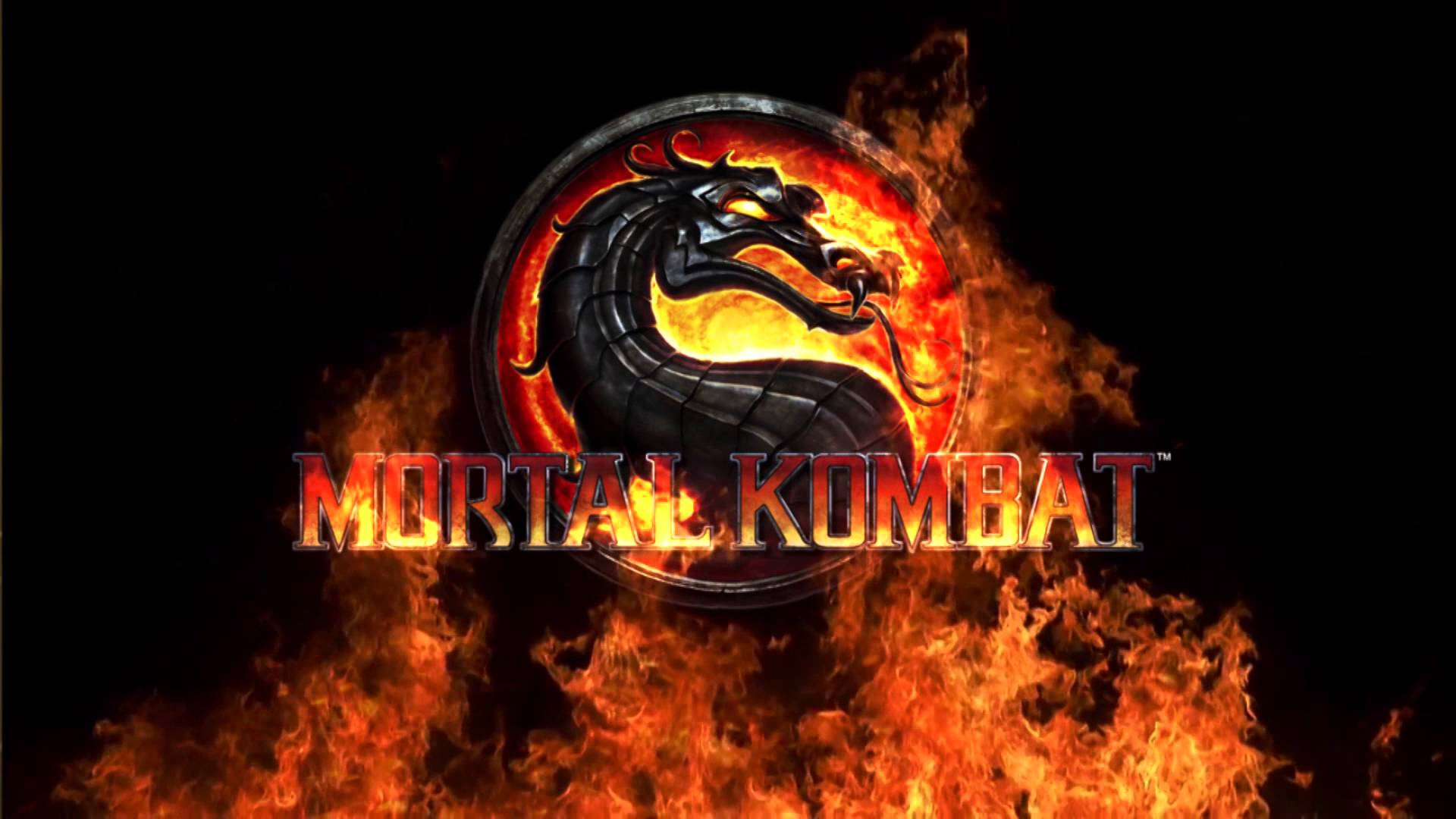 blue mortal kombat logo wallpaper