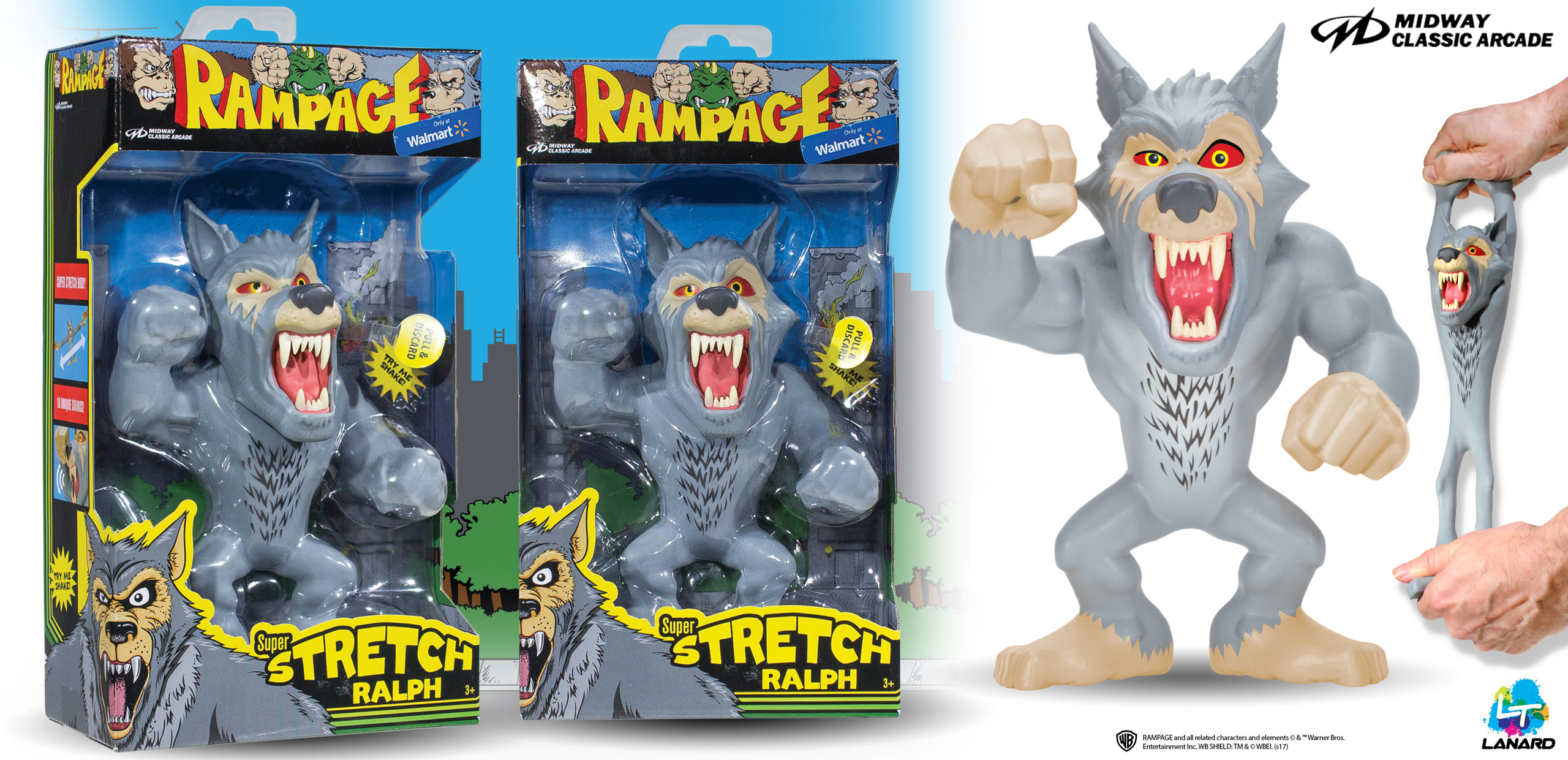 Full Line Of Rampage Toys Includes Arcade And Movie Fun