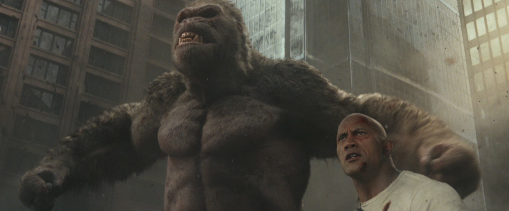 Rampage Poster Aligns George With Dwayne The Rock Johnson