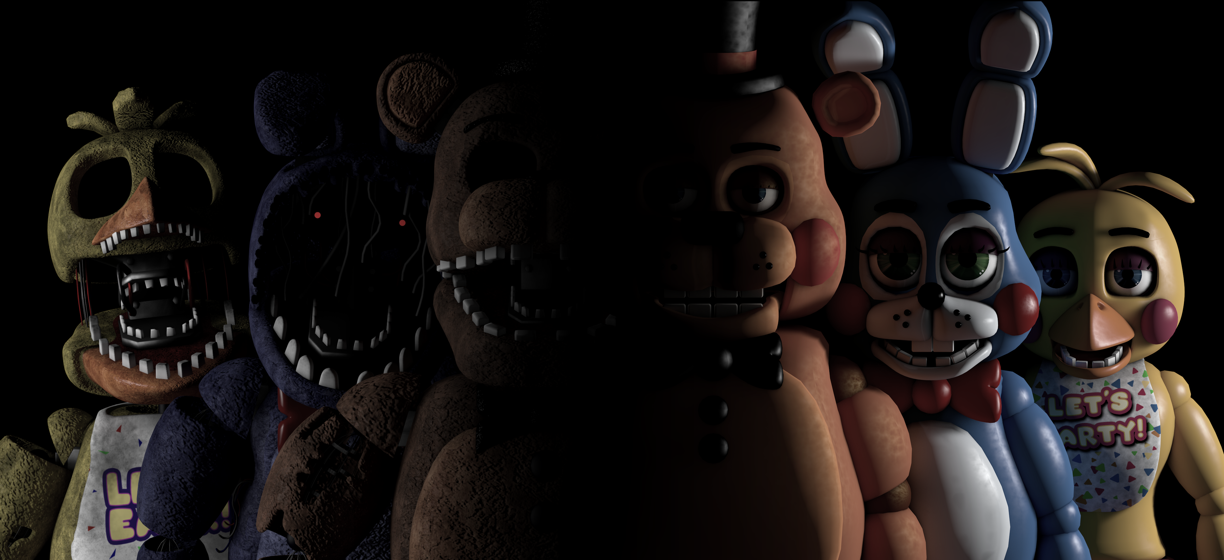 five nights at freddy s being played by gremlins and goonies