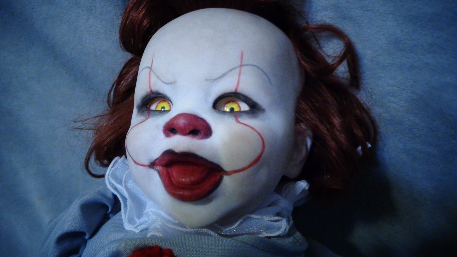 this baby pennywise doll will probably ensure you never sleep