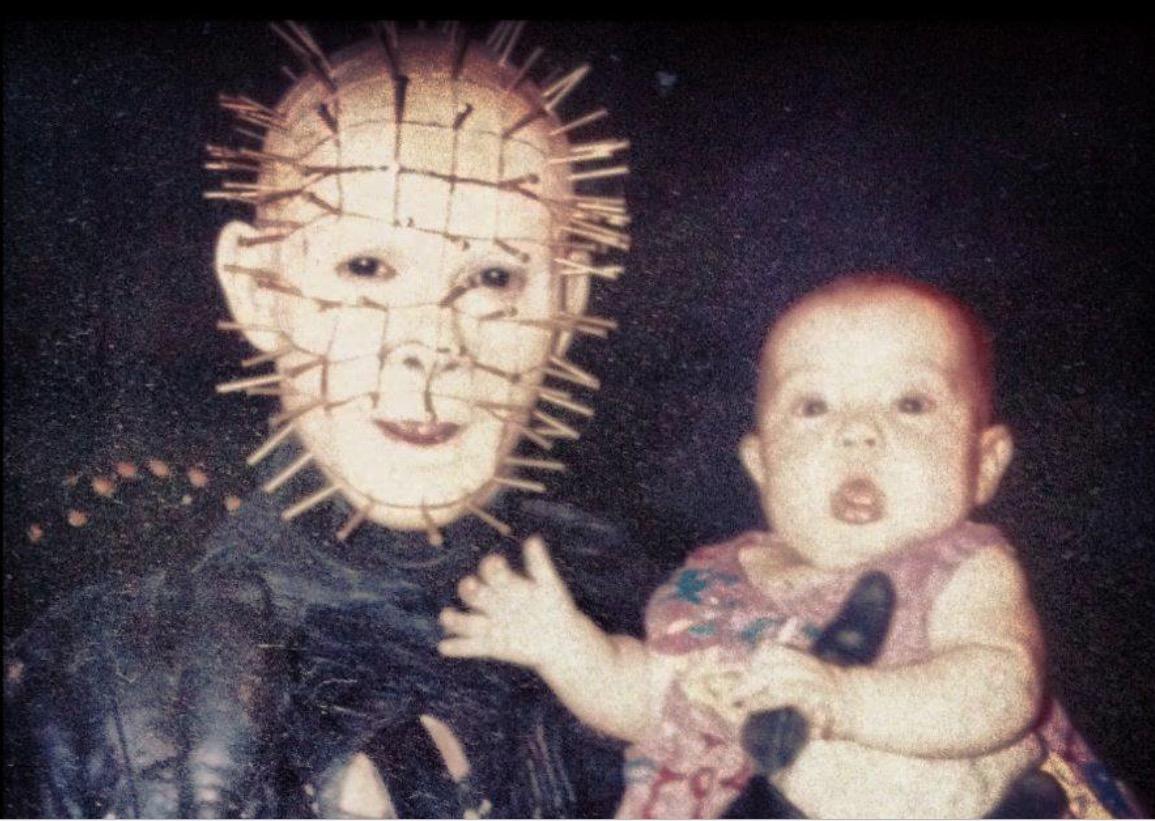 doug bradley tells the story behind amazing pinhead holding a baby