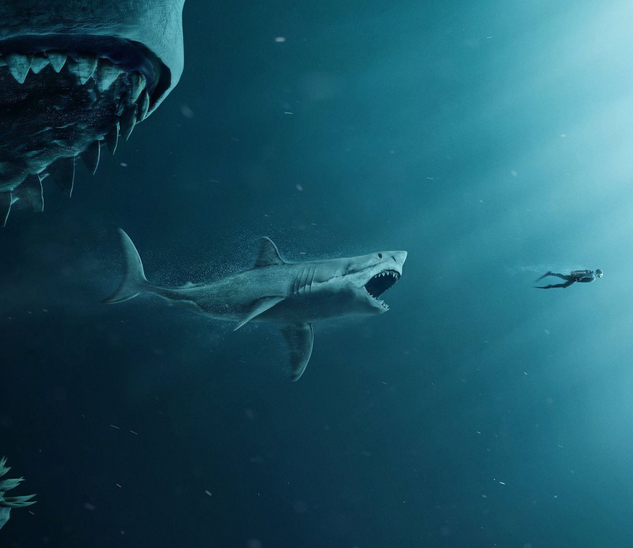 new  the meg  poster takes a loving jab at  jaws divider clipart divider clip art images