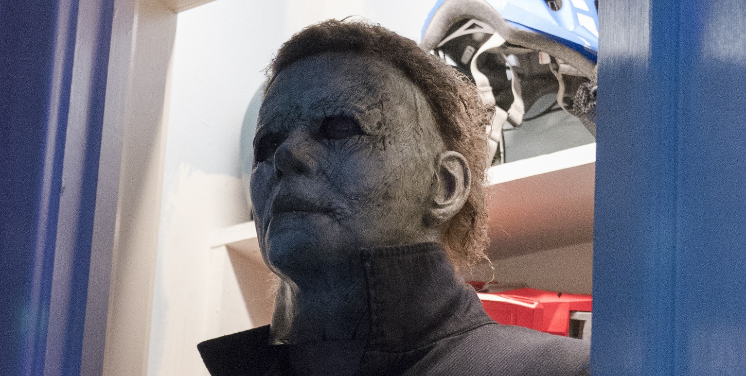 Halloween 2020 Michael Myers Missing Eye Makeup Set Visit] 'Halloween' Effects Artist Chris Nelson on Creating the