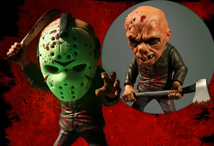 Friday the 13th Bloody Jason Voorhees Glow in the Dark Masque stylisé Exclusive