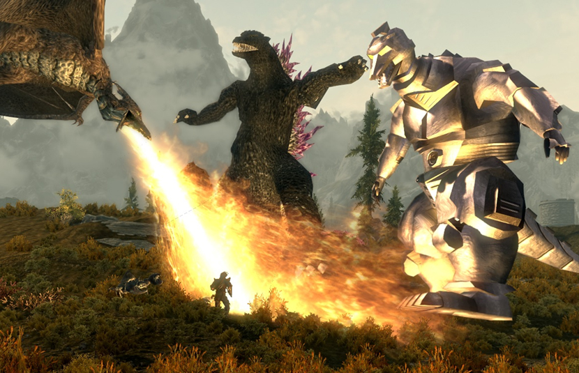 Summon Godzilla And More in This 'Skyrim' Mod! - Bloody