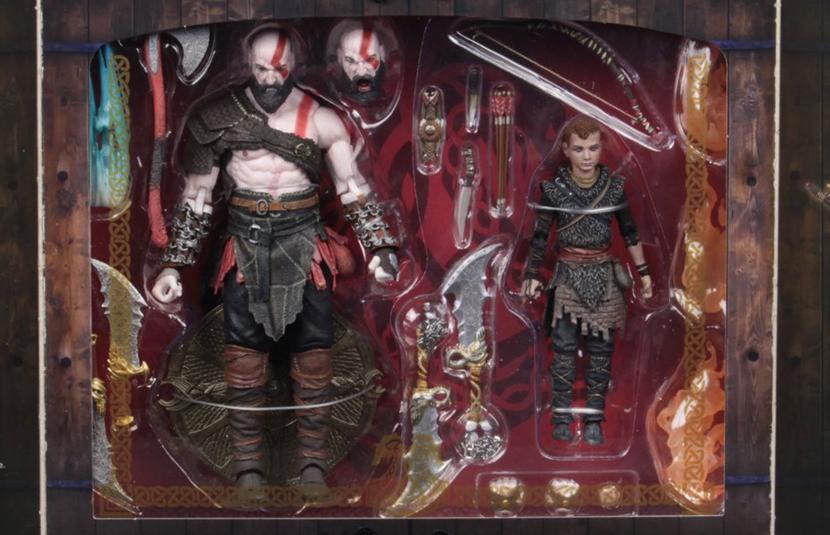 Neca Reveals Packaging For Ultimate God Of War Kratos Atreus 2 Pack Bloody Disgusting