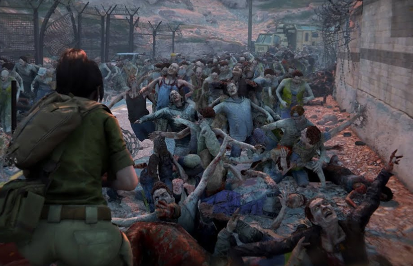 With up to 500 zombies on screen, you aren't going to have much rest playing this game