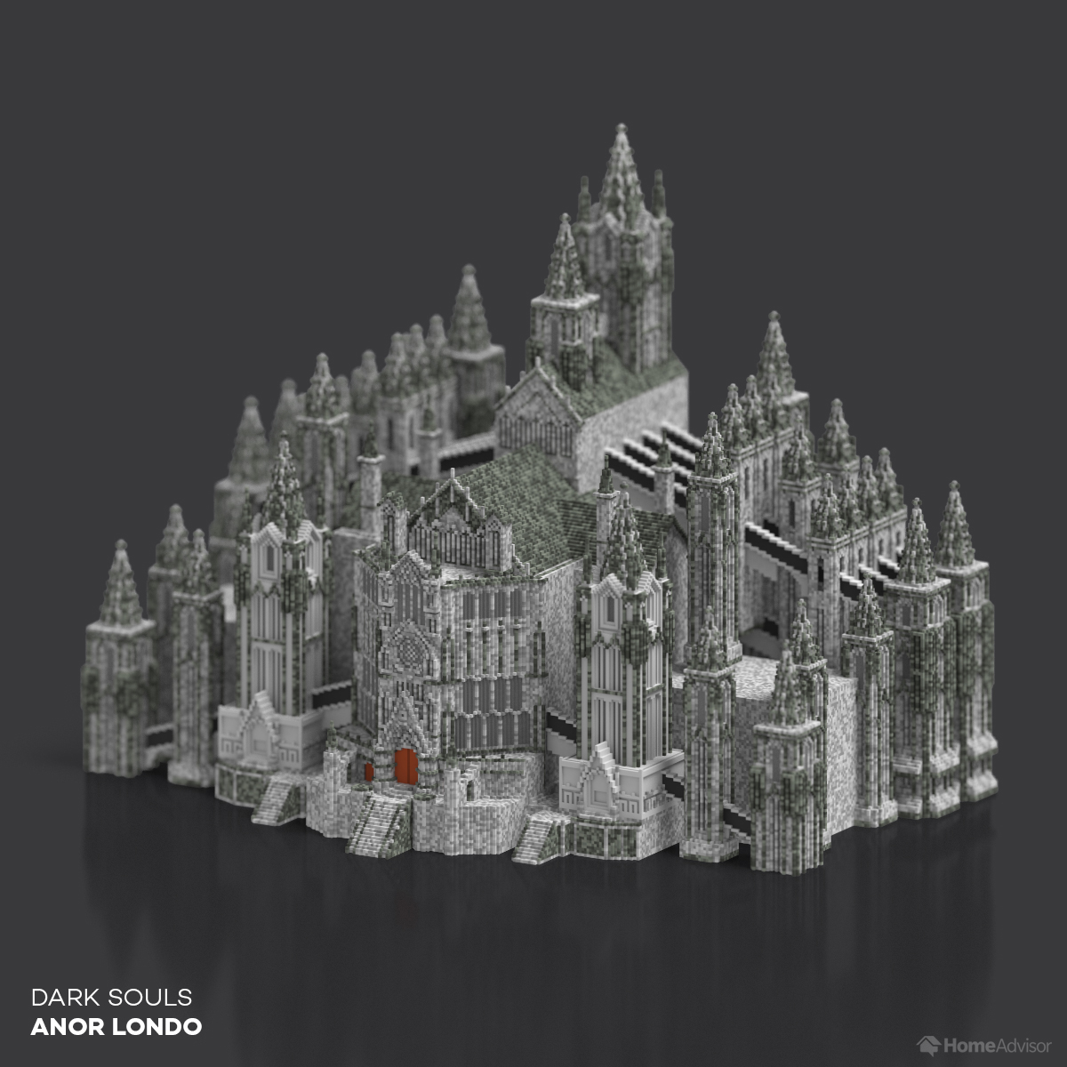 See Iconic Video Game Architecture Recreated in Voxel Art!