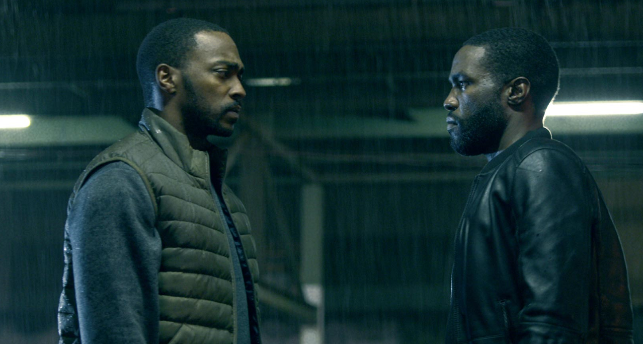 Anthony Mackie and Yahya Abdul-Mateen in Striking Vipers.