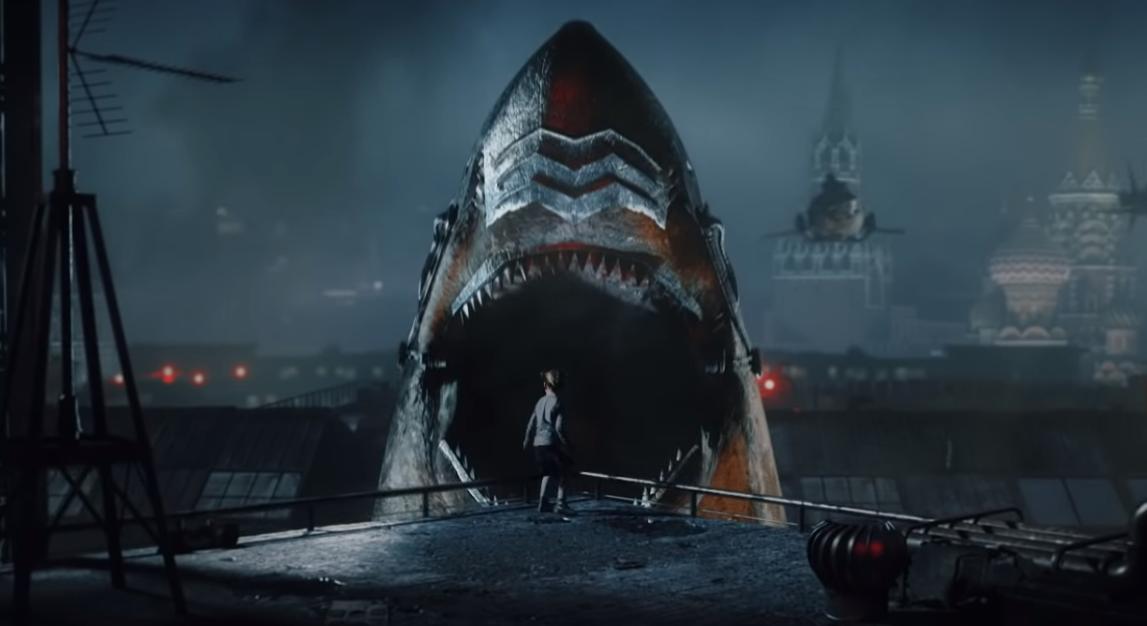 Flying Mechanical Sharks Wreak Havoc in New Trailer for This Year's 'Sky Sharks'