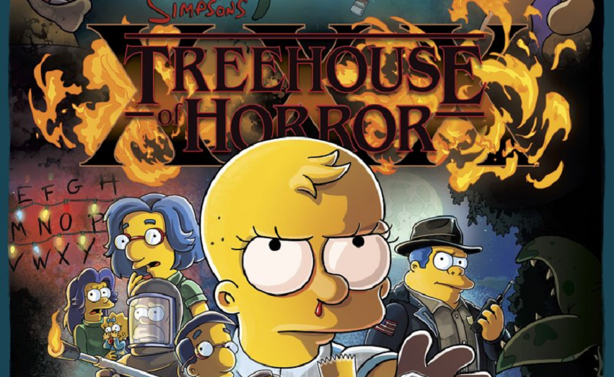 The Simpsons Spoofs Stranger Things On The Poster For This October S Treehouse Of Horror Xxx Bloody Disgusting