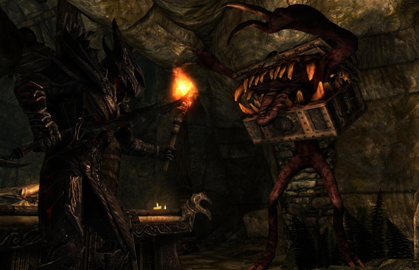New 'Skyrim' Mod Adds 'Dark Souls' Mimic Chests to Your Game