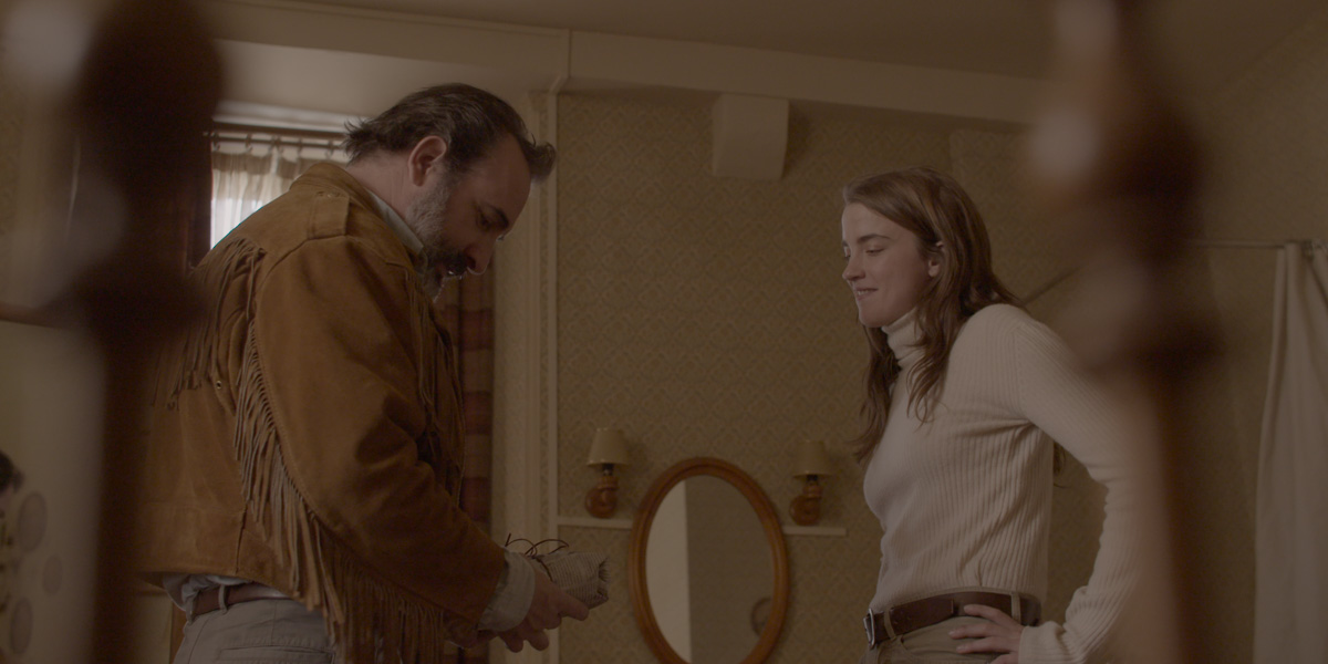 Tiff Review Deerskin Is An Absurd Dark Comedy About A Killer Coat Bloody Disgusting Deerskin