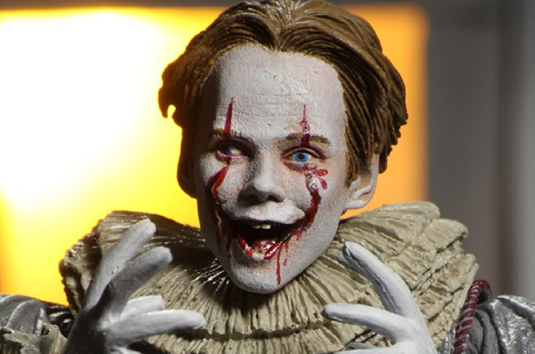 Neca S Latest It Chapter Two Pennywise Figure Features A New Body And Four Different Heads Bloody Disgusting