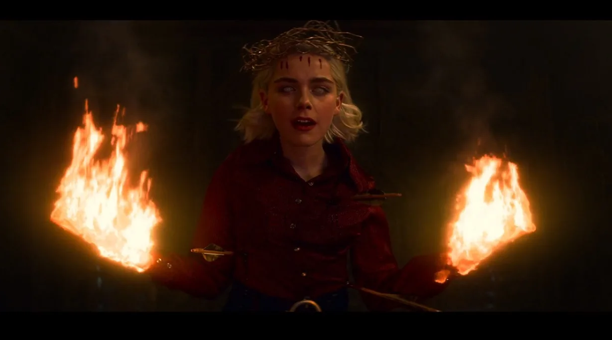 Fiery Chilling Adventures Of Sabrina Season 3 Poster Drags