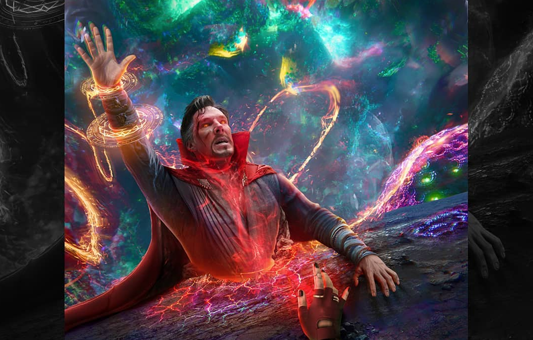 Fan Art for Sam Raimi's 'Multiverse of Madness' Mashes Together 'Doctor Strange' and 'The Evil Dead' - Bloody Disgusting