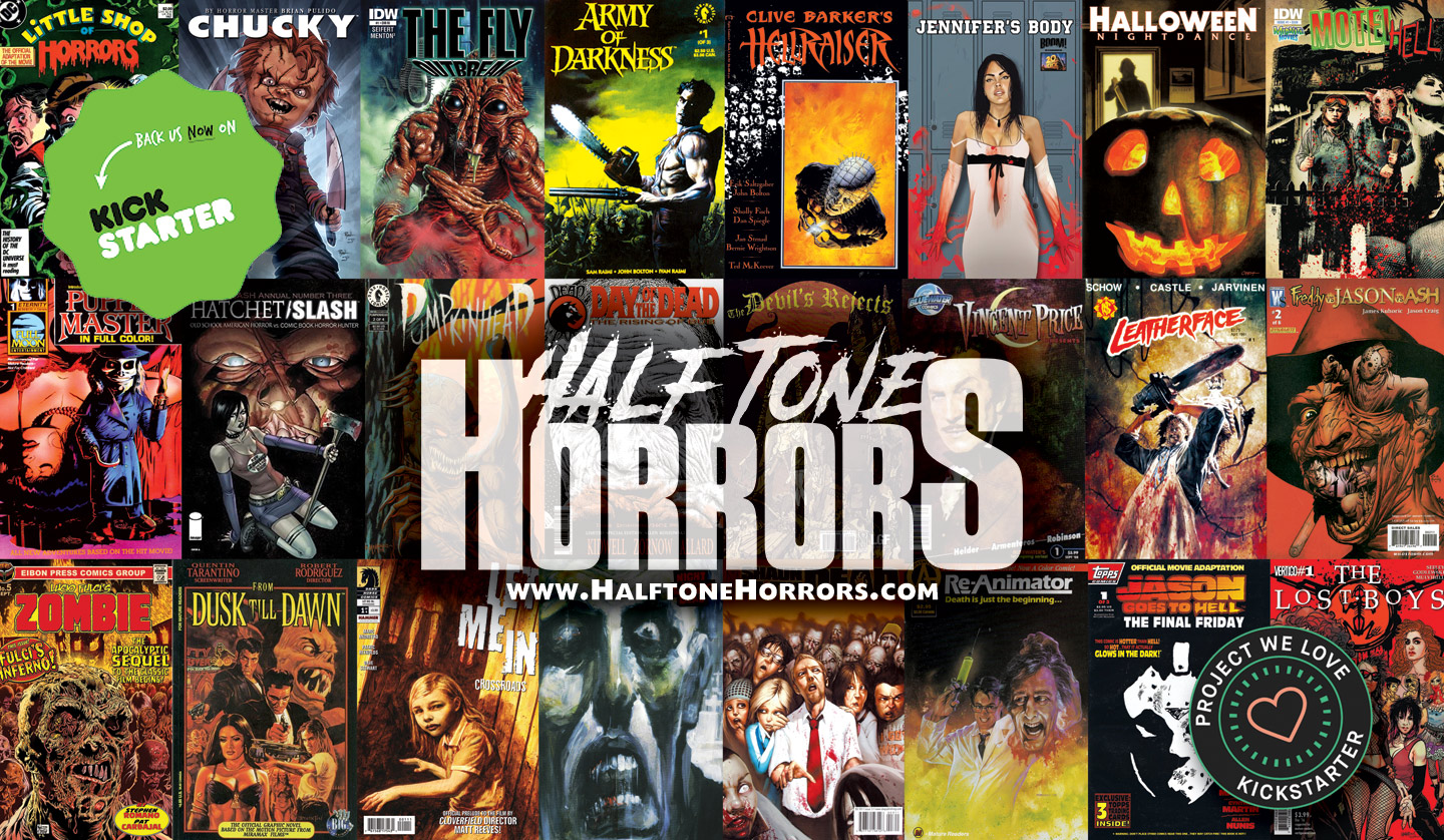 Held Fund Hardcover Collector Guide 'Halftone Horrors: The History of  Horror Movie Comic Books' Today! - Bloody Disgusting